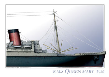 RMS Queen Mary 1936
