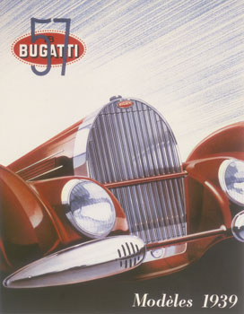 Poster advertising Bugatti Cars