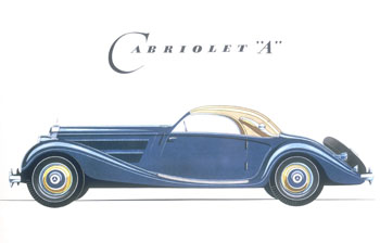 Poster advertising 1939 Blue Cabriolet 'A'