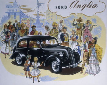 Poster advertising Ford Anglia