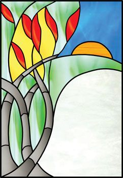 Sunrise - Stained Glass