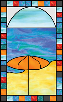 Postcard from the Cayman Islands - Stained Glass