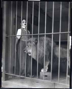 Chaplin in Lion's Cage, The Circus