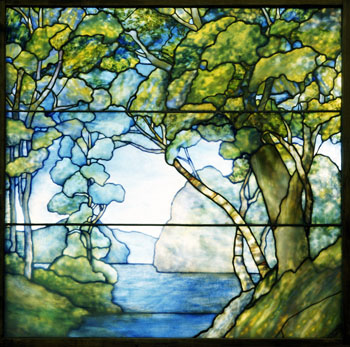 Leaded-glass Landscape Window