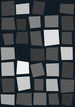 Dark Blue Grey Wonky Pixel Hemingway Design