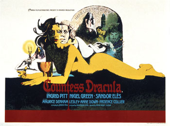 Film Poster for 'Countess Dracula', 1971