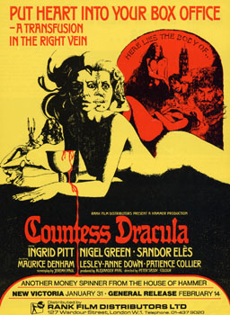 'Countess Dracula' Film Poster, 1971