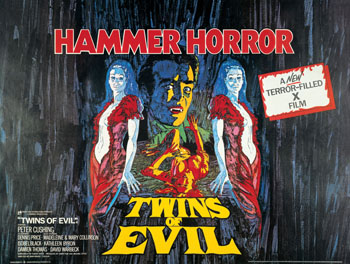 Poster for Hammer Films' 'Twins of Evil', 1971