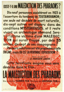 'La Malediction des Pharaons', 1959