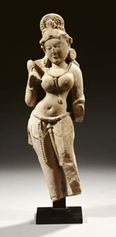 Indian Rajasthan Sandstone Female Deity