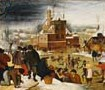 Townsfolk Skating on a Castle Moat, Brueghel II, The Younger