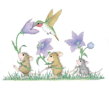 Little Mice with Hummingbird