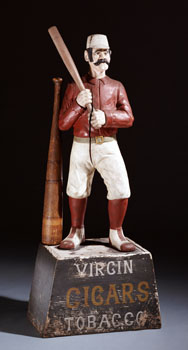 Baseball Player Tobacco Figure, c. 1875