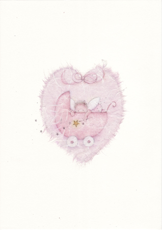 Baby Girl Fairy in pink Pram