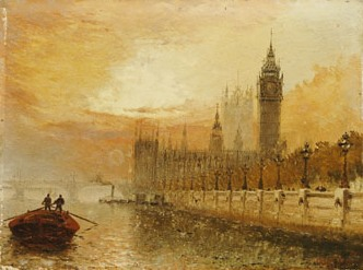 View of Westminster from the Thames, Stanfield Moore