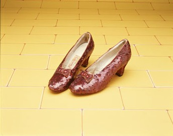 A Pair of Ruby Slippers worn by Judy Garland