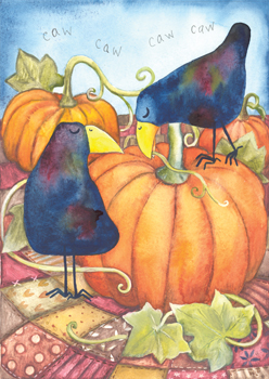 Crows with Pumpkins