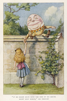 Alice and Humpty Dumpty
