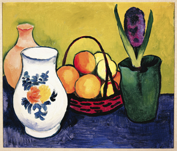 Still Life with Jug, Flowers and Fruit, Macke