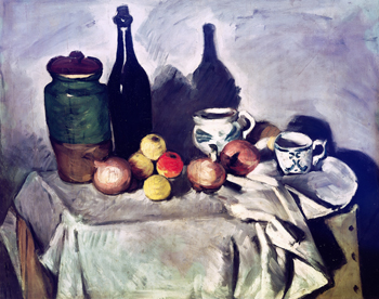 Still Life with Fruit and Dishes, Paul Cezanne