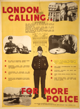Metropolitan Police Recruitment Poster, 1930s