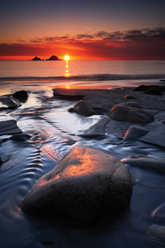 Porth Nanven at Sunset