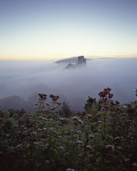 Corfe Castle in September Mist