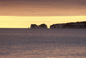 Old Harry Rocks in Dawn Light