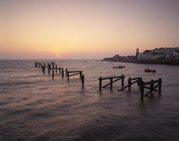Sunrise over Swanage Old Pier