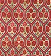 Red Cover Linen embroidered with Silk  Thread: V&A