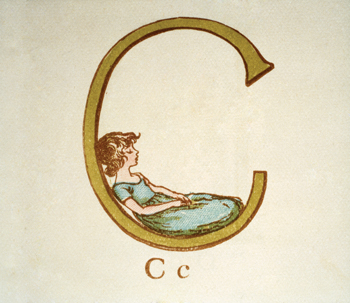 Letter 'C' from Kate Greenaway's Alphabet Book