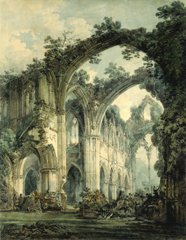 Transept of Tintern Abbey by J.M.W.Turner