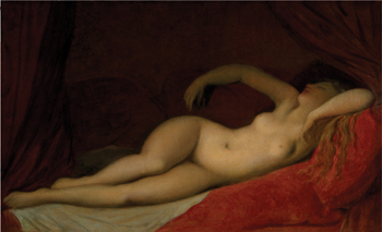 A Sleeping Odalisque by Jean-Auguste-Dominique Ingres