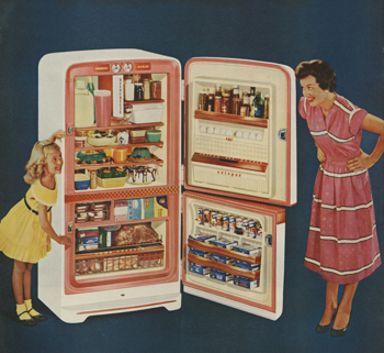 Magazine Advertisement for Refrigerator, 1950s