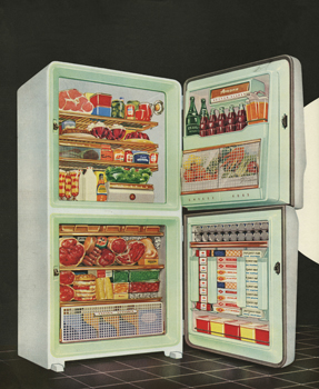Magazine Advertisement for Fridge Freezer, 1950s