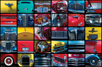 Montage Collection of 1950s American Cars