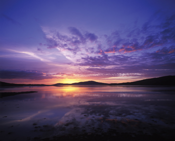 Sunset over Taransay from Luskentyre, Outer Hebrides