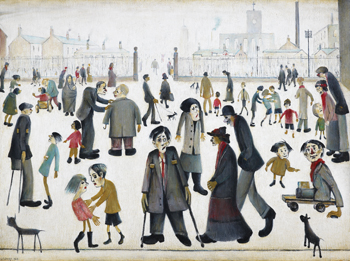 The Cripples, 1949, L.S. Lowry