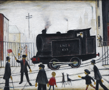 Level Crossing, 1946, L.S. Lowry