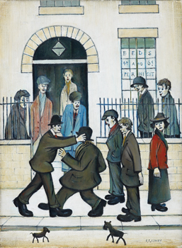 A Fight, c. 1935, L.S. Lowry