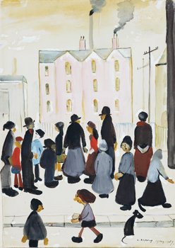 Group of People, 1959, L.S. Lowry