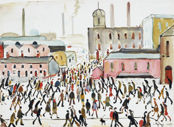 Going to Work, 1959, L.S. Lowry