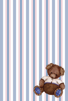 Little Timba on Blue/Red Stripes