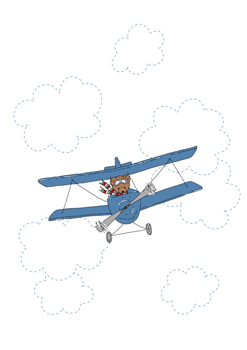 Little Pilot with Clouds