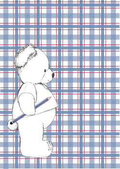 White Timba on Blue/Red Gingham