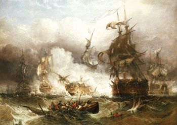 The Battle of Camperdown, 11 October 1797