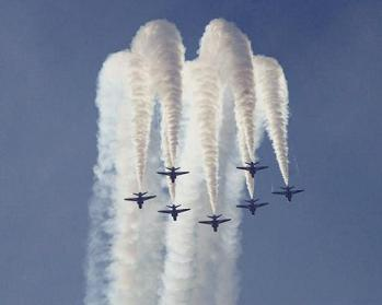 Red Arrows Display Team at Rutland Air Show, 2001