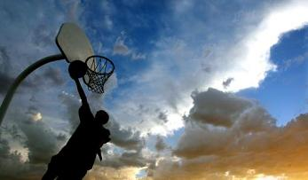Basketball at Sunset, United Nations Park, Cheyenne, Wyoming