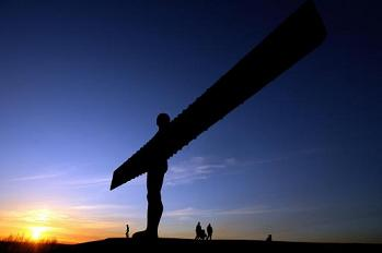 Sunset at Angel of the North, Gateshead