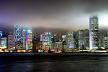 Hong Kong Skyline - low clouds